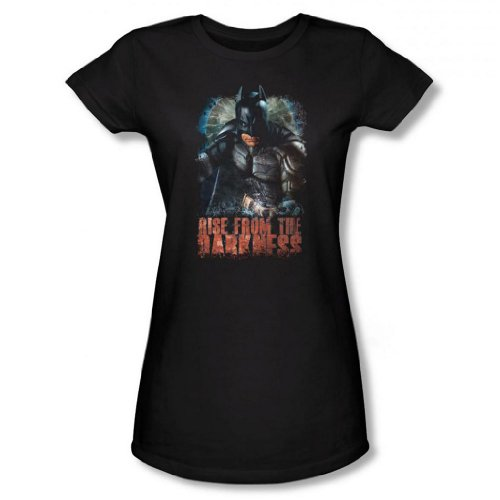 Juniors: The Dark Knight Rises - Rise From the Darkness Juniors (Slim) T-Shirt Size XL (Catwoman From The Dark Knight Rises)