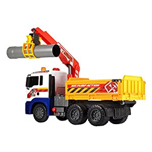 """Dickie Toys Air Pump Action Utility Truck, 21"""""""
