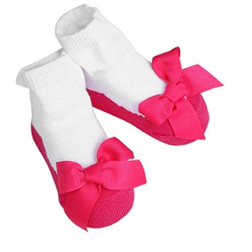 Hot sale! baby socks newborn cotton children socks girls infant socks baby clothing kids meias infantil ld ourlove (1-2 years, Hot Pink Bow)