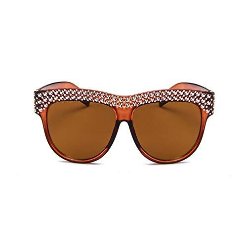 LKSDD Sunglasses Lady Imitation Diamond Sunglasses Trend Personality Big ()