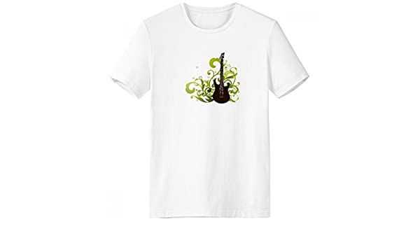 DIYthinker Verde, música de la guitarra fresca del patrón de cuello redondo camiseta blanca de manga corta Comfort Deportes camisetas de regalos - Multi -: Amazon.es: Ropa y accesorios