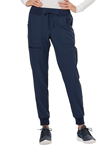 HeartSoul Break On Through HS030 The Jogger Low Rise Tapered Leg Pant (Navy, X-Small Petite)