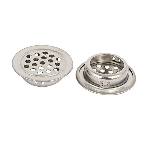 uxcell 25mm Bottom Dia Stainless Steel Round Shaped Mesh Hole Air Vent Louver 40pcs by uxcell (Image #1)
