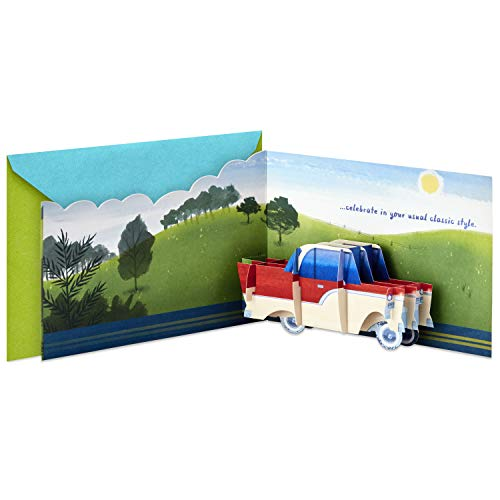 Hallmark Paper Wonder Displayable Pop Up Birthday Card (Classic Car) (Cards Cars Greeting)