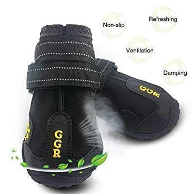 GGR Outdoor Waterproof and Wearproof Running Shoes for Dogs
