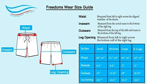 Freedoms Wear Mens Captain Swim Short