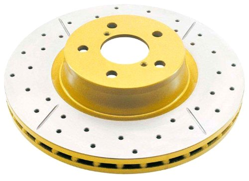 - DBA DBA2659X Street Series Gold Cross-Drilled and Slotted Rear Vented Disc Brake Rotor
