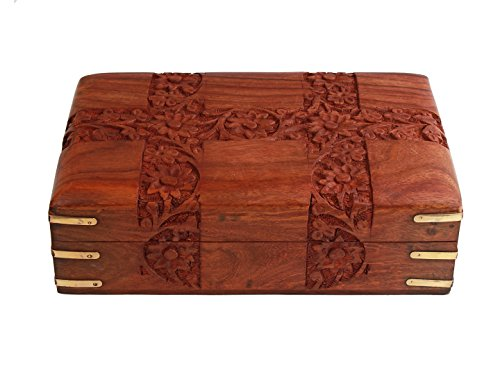 Store Indya Fine Polished Wooden Keepsake Jewelry Box (8 5) Velvet Interiors Gift Ideas