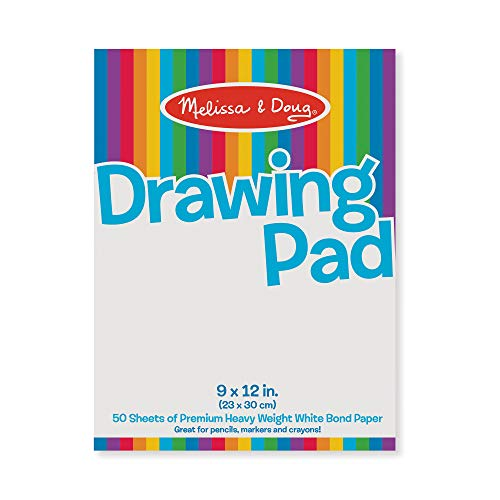 - Melissa & Doug Drawing Pad (9 x 12 inches) With 50 Sheets of White Bond Paper