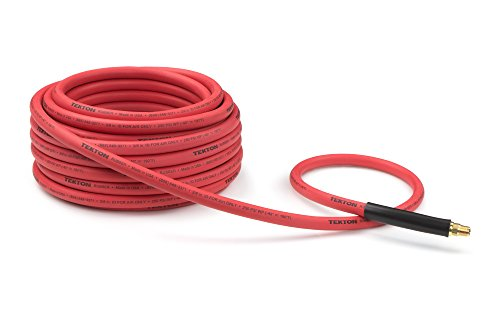 Rubber 0.25 (TEKTON 46337 3/8-Inch I.D. by 50-Foot 250 PSI  Rubber Air Hose with 1/4-Inch MPT Ends and Bend Restrictors)