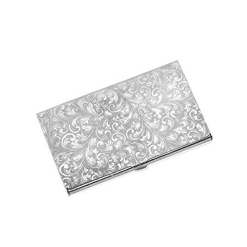 Sterling Silver Card Holder - Zsamuel Sterling Silver 925 Business Card Holder Hand Engraved Scroll Design