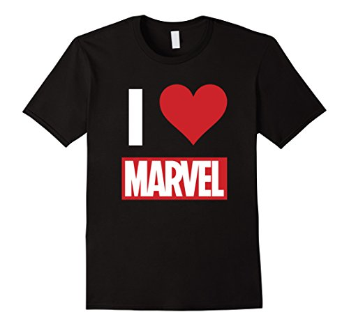 Marvel I HEART MARVEL Ultimate Fan Love Brick Logo T-Shirt ()