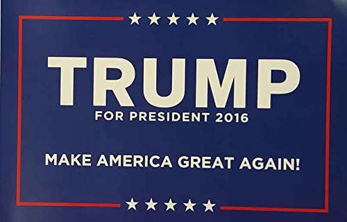 3 Donald Trump For President 2016 New Campaign Posters Blue And White!