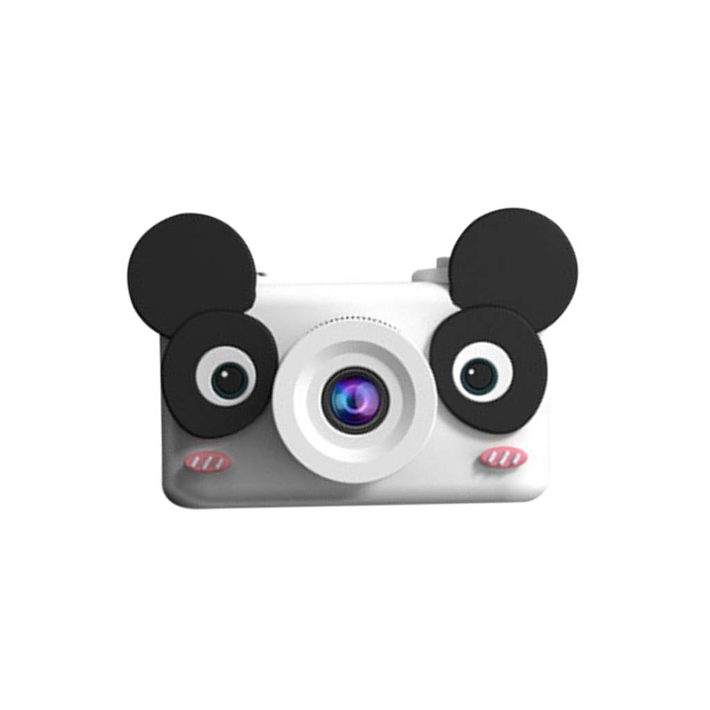 NiceBUY Kids Camera Toys for Boys and Girls Selfie Camera Birthday Gift Anti-Drop Protective Shell 2.0 Inch Screen 8MP HD Video Camera Gifts Lovely Animal Design (Panda)