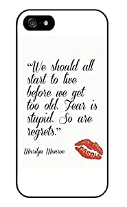 Color.Dream Marilyn Monroe Quote Selfish Hard Plastic Back Case Cover Phone Protective Case for iPhone 6 Plus (5.5 inch) by Maris's Diary