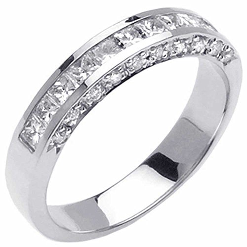 0.80ct TDW White Diamonds Platinum Channel Women's Wedding Band (G-H, SI1-SI2) (4mm) Size-8c2 (Platinum Ring Channel Diamond 4mm)