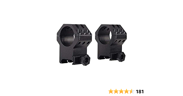 "Weaver Tactical 6-Hole Rings 1/"" XX High Height Matte 48353"