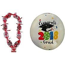 Graduation Celebration Lei Kit & Autograph Party Beach Ball 2018 (Red Lei Kit & Autograph