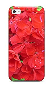 2976131K34434641 New Style Red Flowers Premium Tpu Cover Case For Iphone 5c