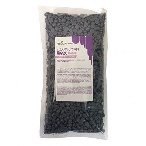 Huini hot wax lavender beaded, 500g RHW500C-3