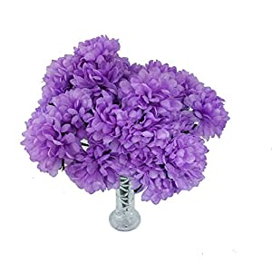 MM TJ Products 4 Artificial Chrysanthemum Bouquet with Vase (Lavender) 62