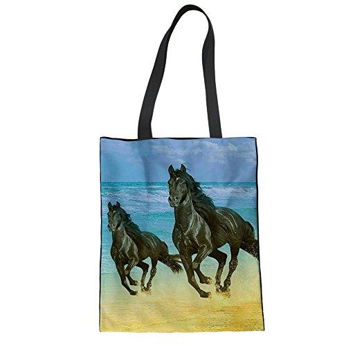 Advocator Frauen Handtasche Schulter Tote Bags Durable Leinwand Einkaufstaschen Strandtasche für Teenager Mädchen Color-4 d72lOa