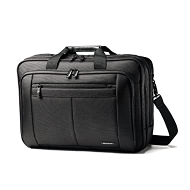 Samsonite Classic Three Gusset Lg Toploader (Black)