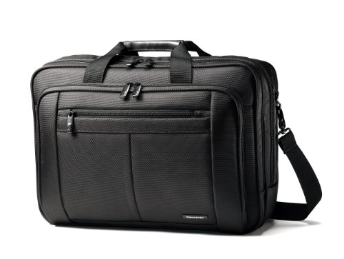 Briefcase Soft Leather Expandable - Samsonite Classic Business 3 Gusset Business Case, Black