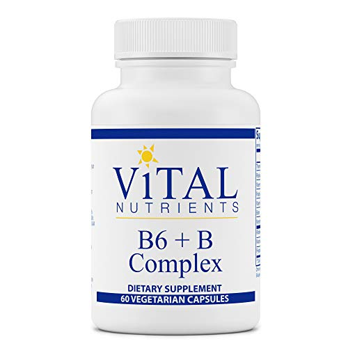 Vital Nutrients – B6 + B-Complex – Balanced B Vitamin Formula With Extra B6 – 60 Capsules per Bottle