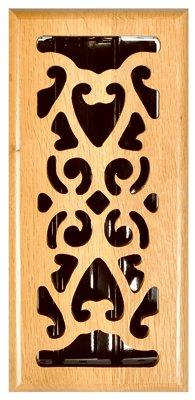 Imperial Mfg Group Usa RG1835 Hardwood Floor Register, Oak Scroll , 4 x 12-In. - Quantity 5