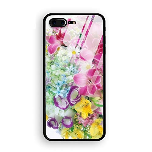 Lilies Roses Carnations Daisies Bouquets Luxury Printed iPhone 7 Plus/8 Plus Cover Full Body Protect Tempered Glass iPhone 7 Plus/8 Plus Case 5.5