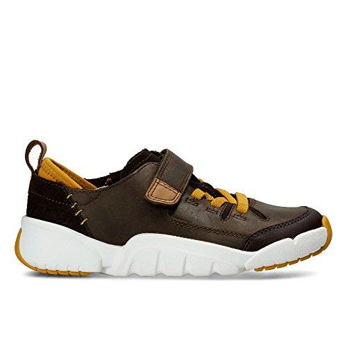 Clarks Tri Dash Jnr - Zapatos de cordones de Piel para niña marrón marrón