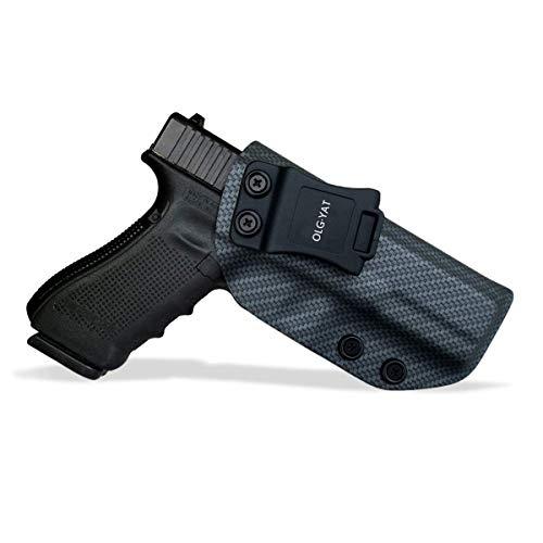 OLG·YAT IWB Tactical KYDEX Gun Holster Carbon Fiber Pattern Custom Fits:Glock 17 22 31 Pistol Case Inside Concealed Carry Holster Guns Accessories