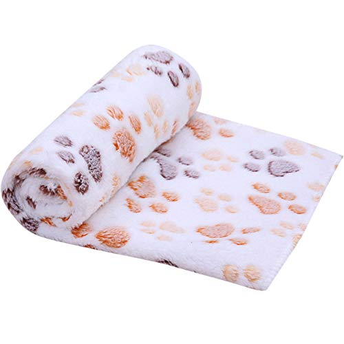 Dog Claw Towel Dog Cat Cleaning Towel Pet Dirty Paw Carpet High Suction Towel Good Anti-Skid Function Dog Drying Towel Microfiber Absorbent Pet Dirty Paws Cleaning Bath Towel Mat (Beige, 60x40cm)