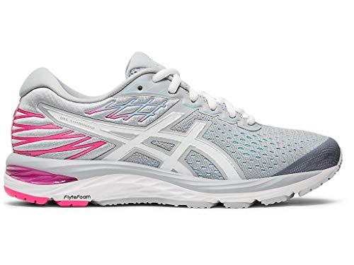 ASICS Women's Gel-Cumulus 21 Running Shoes, 7.5W, Piedmont Grey/White
