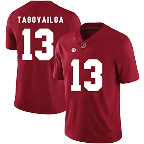 Essie Sports Tua Tagovailoa Alabama Crimson Tide #13 Stitched Gameday Replica Jersey – Crimson (XL) -