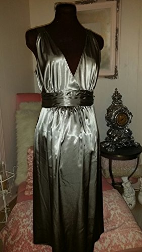 Beautiful Silver Satin Evening Maternity Dress by Ripe Limited in Australia Size Large (Pickles And Ice Cream Maternity compare prices)
