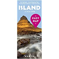 EASY MAP Island: 1:910.000 (KUNTH EASY MAP / Reisekarten)