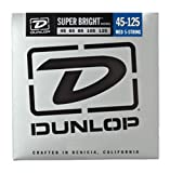 Dunlop DBSBN45125 Super Bright Bass Strings, Nickel Wound, Medium, .045–.125, 5 Strings/Set