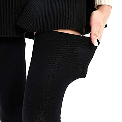 Kayhoma Extra Long Cotton Stripe Thigh High Socks Over the Knee High Stockings: Clothing