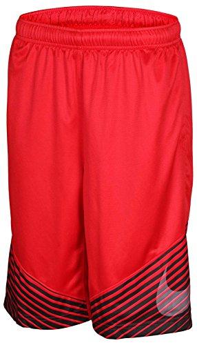 Nike Big Boys' (8-20) Dri-Fit Elite Reveal Basketball Shorts-Red/Black-Small
