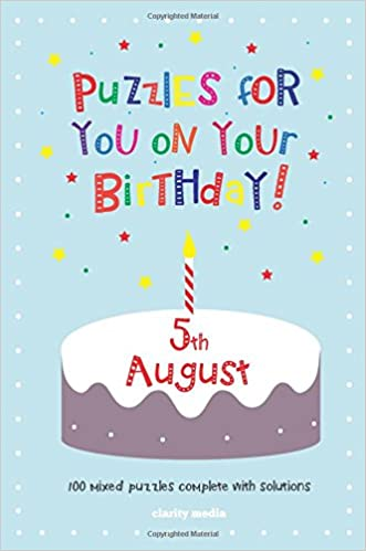 Book Puzzles for you on your Birthday - 5th August