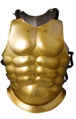 [RedSkyTrader Mens Greek God Breastplate Costume Armor One Size Fits Most Gold] (Roman God Costumes)