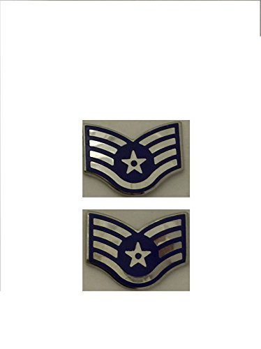 (Lot of 2 Air Force Staff Sergeant E-5 SSGT Lapel/Hat Pins)