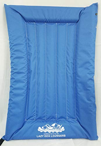 Lazy Dog Loungers Rafts for Dogs and Pets - Semi-Submersible to Keep Your Dog Cool - Lake, Pool, River and Boat (Royal Blue - Small)