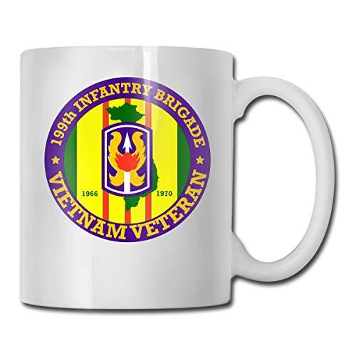 199th Light Infantry Brigade Vietnam Veteran Mug Ceramic with Large C-Handle Coffee Mug Cup (199th Light)