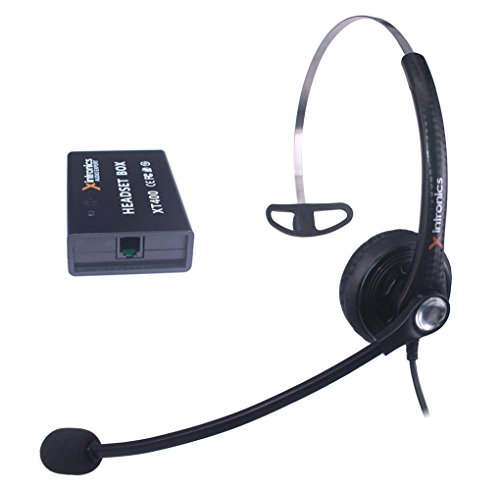 Corded Telephone Headset Mono Universal Compatible with All Landline Desk Phones, Xintronics RJ9 Headsets with Answer Button, Noise Cancelling Mic, Volume Mute Controls (Mono-XT400)