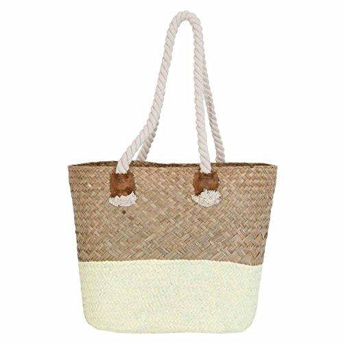 Clayre & Eef BAG265 borsa spiaggia borsa ca, 35 x 15 x 28 cm