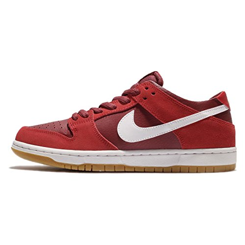 NIKE Men's SB Zoom Dunk Low Pro Track Red/White Cedar Skate Shoe 8 Men US ()