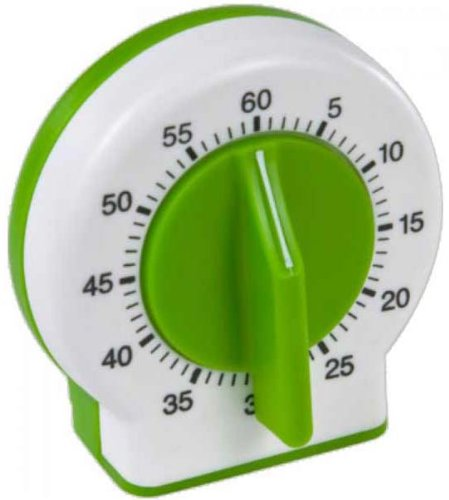 Real Kitchen Tools and Cookbook for Kids - Curious Chef Kids Kitchen Timer, Green